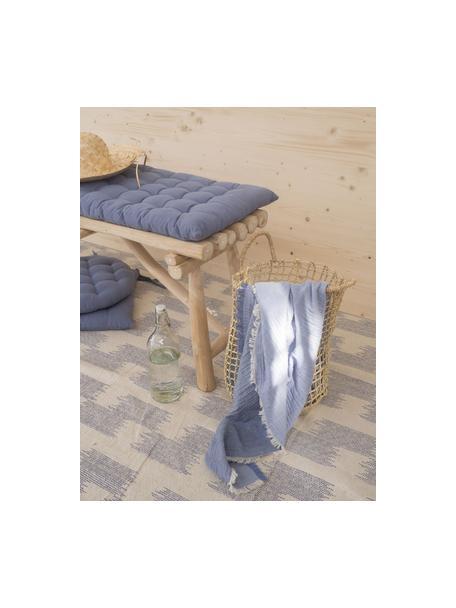 Cuscino sedia lungo Gavema, Blu, Larg. 40 x Lung. 120 cm