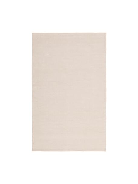 Dünner Baumwollteppich Agneta in Beige, handgewebt, 100% Baumwolle, Beige, B 50 x L 80 cm (Größe XXS)