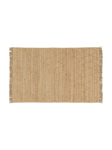 Handgefertigte Jute-Fussmatte Jason, 100% Jute, Beige, 50 x 80 cm