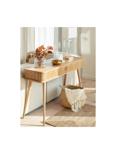 Lámpara de mesa grande Vanessa, estilo clásico, Pantalla: tela, Dorado, An 27 x Al 52 cm