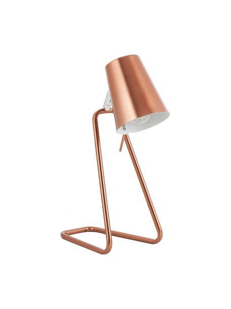 Lampada da tavolo in rame Zet, Paralume: metallo verniciato, Struttura: metallo cromato, Base della lampada: metallo verniciato, Rame, Larg. 16 x Alt. 35 cm