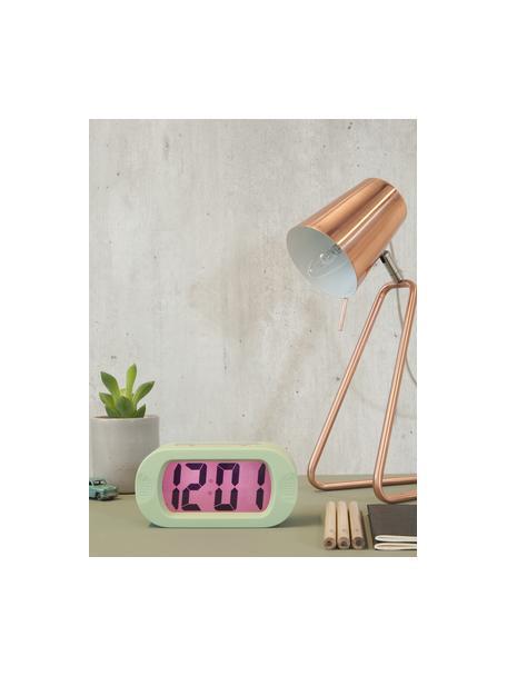 Tafellamp Zet in koper, Lampenkap: gelakt metaal, Lampvoet: gelakt metaal, Koperkleurig, 16 x 35 cm