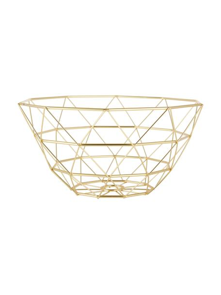 Cesta Diamond Cut, Metal, Dorado, mate, Ø 30 x Al 15 cm