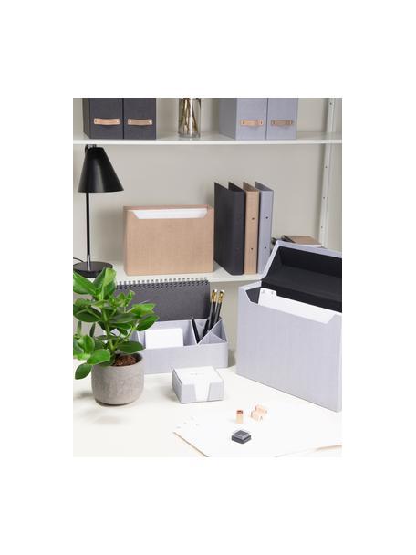 Organizer da ufficio Elisa, Solido, cartone laminato, Bianco, Larg. 33 x Alt. 13 cm