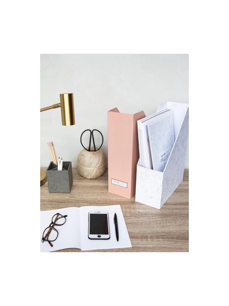 Stehsammler Viktoria, Organizer: Fester, laminierter Karto, Weiß, marmoriert, 10 x 32 cm