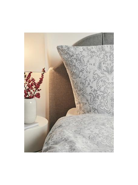 Baumwollsatin-Kopfkissenbezüge Grantham mit Paisley-Muster, 2 Stück, Webart: Satin Fadendichte 200 TC,, Hellgrau, 40 x 80 cm