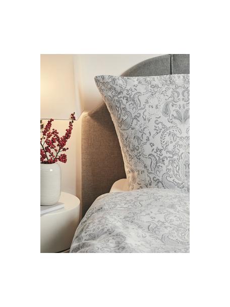 Poszewka na poduszkę z satyny bawełnianej Grantham, 2 szt., Jasny szary, S 40 x D 80 cm