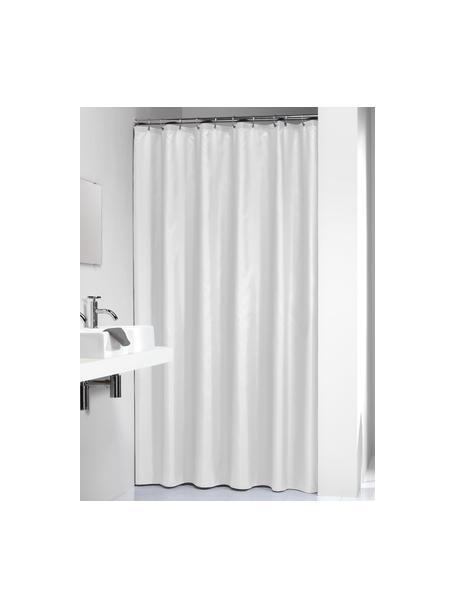 Cortina de baño Granada, Poliéster Repelente al agua, no impermeable, Blanco, An 180 x L 200 cm