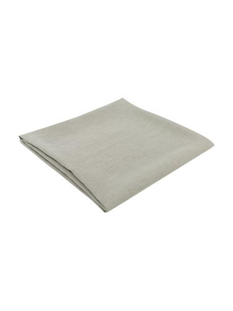 Linnen tafelkleed Heddie in grijsgroen, 100% linnen, Grijsgroen, Voor 4 - 6 personen (B 145 x L 200 cm)