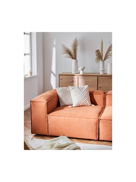 Modulares Sofa Lennon (3-Sitzer) in Terrakotta, Bezug: Polyester Der hochwertige, Gestell: Massives Kiefernholz, Spe, Webstoff Terrakotta, B 238 x T 119 cm