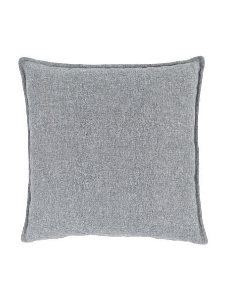 Cuscino arredo in velluto a coste grigio chiaro Lennon, Rivestimento: 100% poliestere, Grigio chiaro, Larg. 60 x Lung. 60 cm
