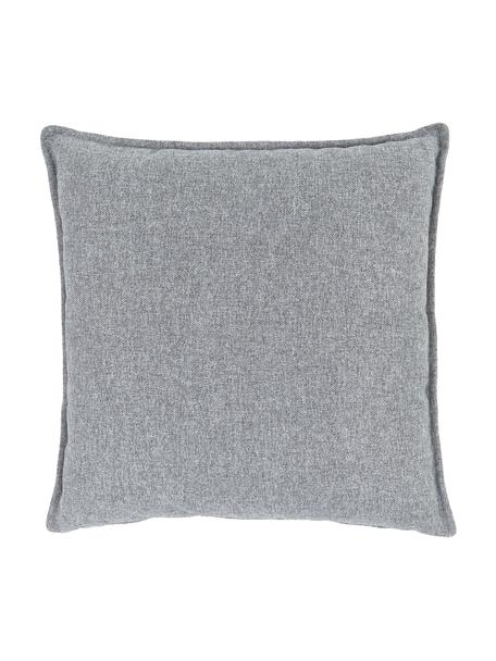 Poduszka Lennon, Tapicerka: 100% poliester, Jasny szary, S 60 x D 60 cm