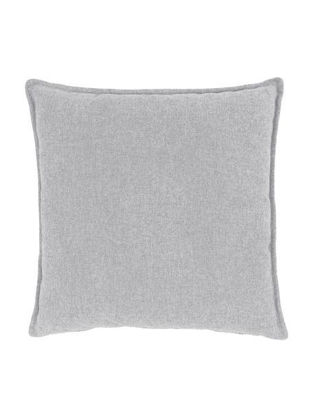 Sofa-Kissen Lennon in Hellgrau, Bezug: 100% Polyester, Webstoff Hellgrau, 60 x 60 cm