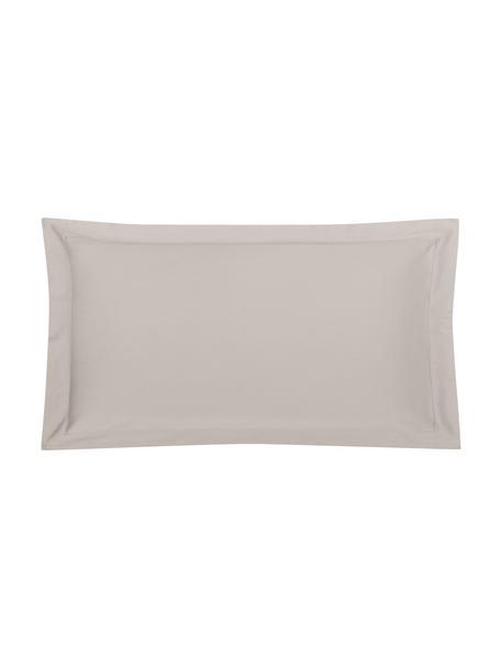 Funda de almohada de satén Premium, 50x85cm, Gris pardo, An 50 x L 85 cm