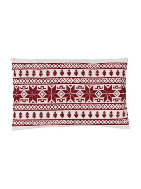 Poszewka na poduszkę Fenna, 100% bawełna, Czerwony, S 30 x D 50 cm