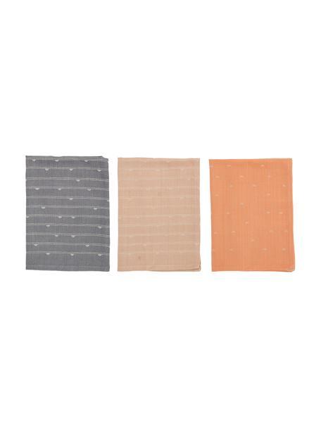 Gemusterte Baumwoll-Geschirrtücher Hein, 3er-Set, 100% Baumwolle, Mehrfarbig, 45 x 70 cm