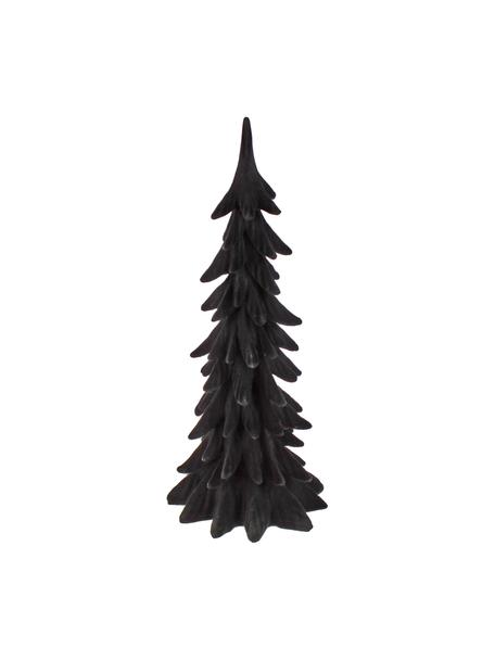 Deko-Baum Tanne H 41 cm, Polyresin, Schwarz, 19 x 41 cm