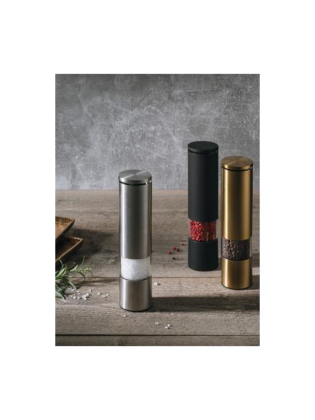 Kruidenmolen Sheda, Acryl, kunststof (ABS), edelstaal, keramiek, Messingkleurig, transparant, Ø 5 x H 22 cm