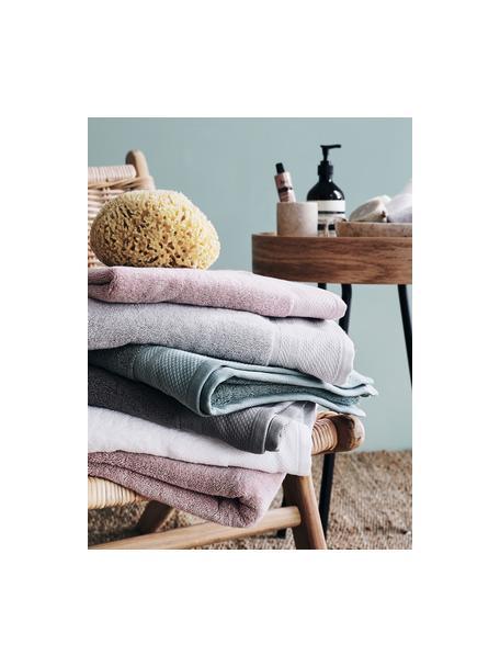 Toalla con cenefa clásica Premium, diferentes tamaños, 100%algodón Gramaje superior 630g/m², Blanco, Toallas tocador
