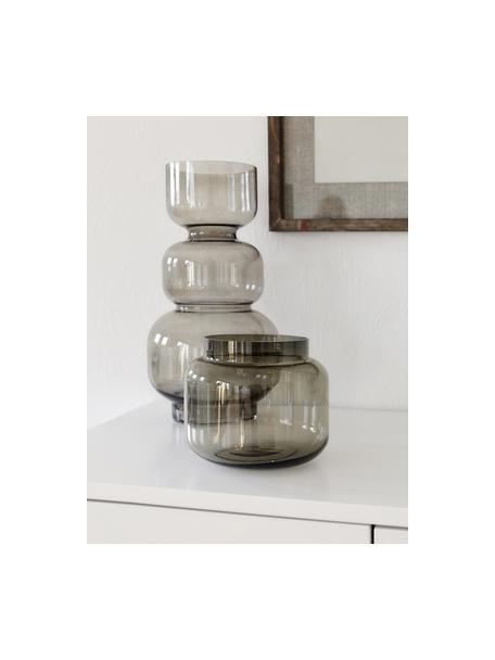 Średni wazon ze szkła Lasse, Szkło, Szary, transparentny, Ø 16 x W 14 cm