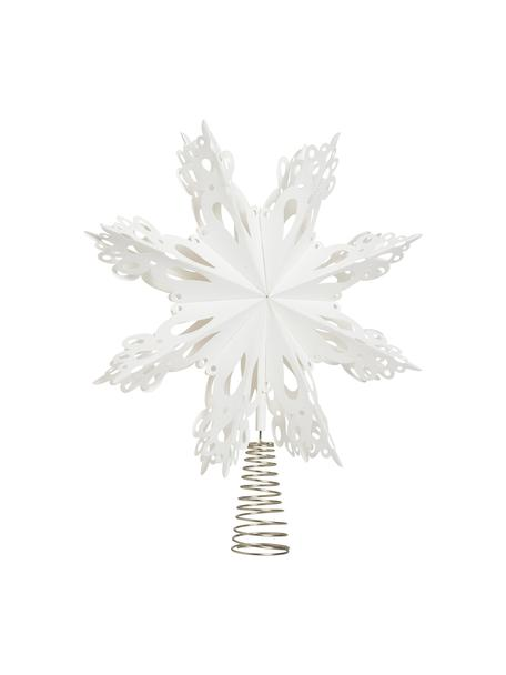 Baumspitze Christmas Star Ø 30 cm, Papier, Metall, Weiss, Metall, Ø 30 cm