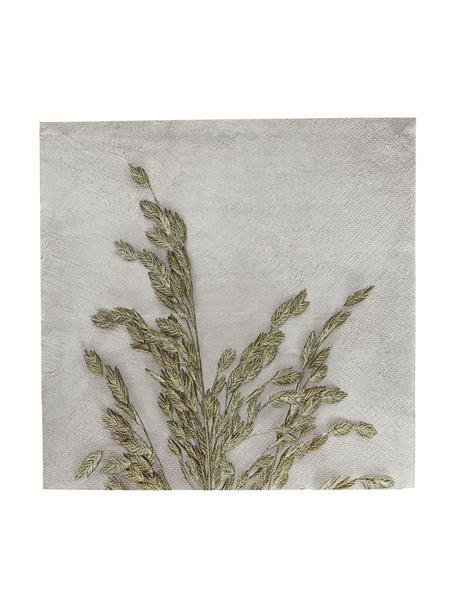 Tovagliolo di carta Grass 40 pz, Carta, Grigio chiaro, verde, Larg. 20 x Lung. 20 cm