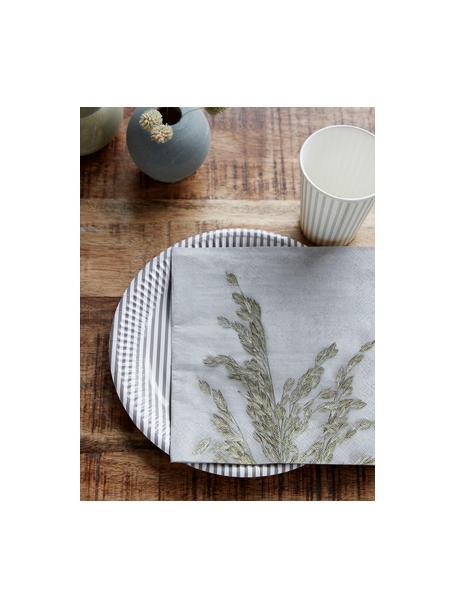 Serwetka z papieru Grass, 40 szt., Papier, Jasnoszary, zielony, S 20 x D 20 cm