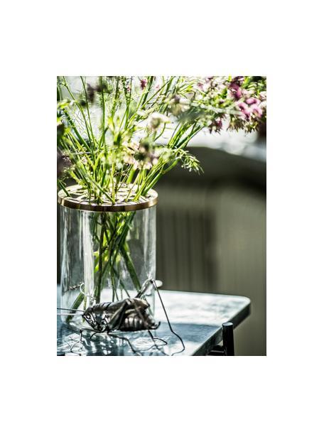 Wazon Lily, Wazon: transparentny Pokrywka: mosiądz, Ø 13 x W 19 cm