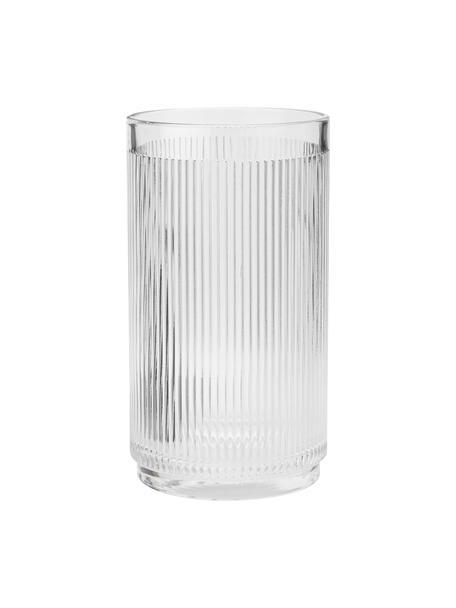 Glas-Flaschenkühler Pilastro mit Rillenrelief, Glas, Transparent, Ø 11 x H 20 cm