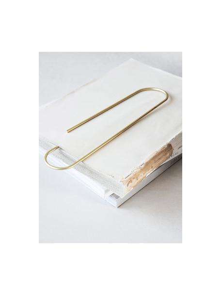 Segnalibro Mega Clip, Metallo rivestito, Ottonato, Larg. 6 x Alt. 25 cm