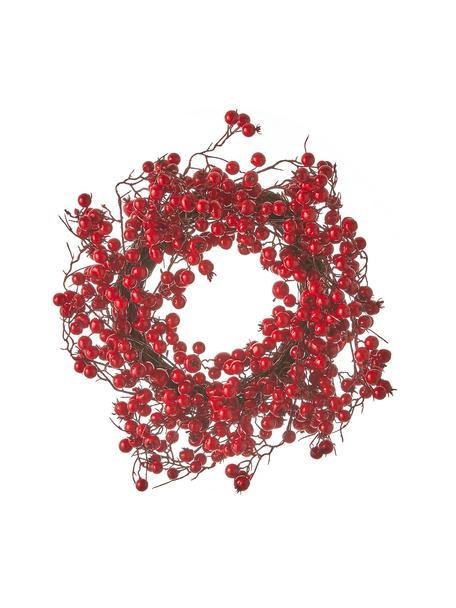 Ghirlanda natalizia con bacche Stirling, Ø40 cm, Rosso, Ø 40 x Alt. 10 cm