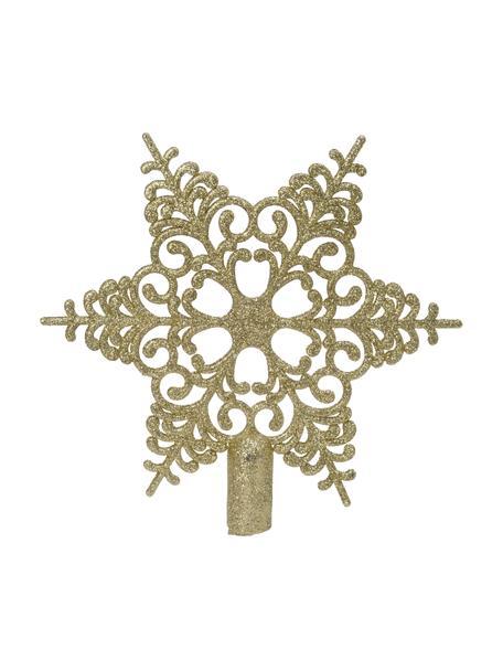 Bruchsichere Weihnachtsbaumspitze Adele Ø 19 cm, Kunststoff, Goldfarben, 19 x 19 cm