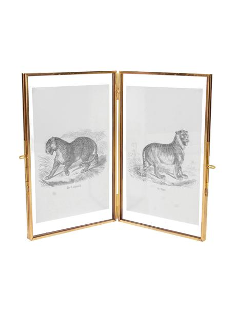 Portafoto multiplo ottonato Cari, Cornice: ottone, Ottone, 10 x 15 cm