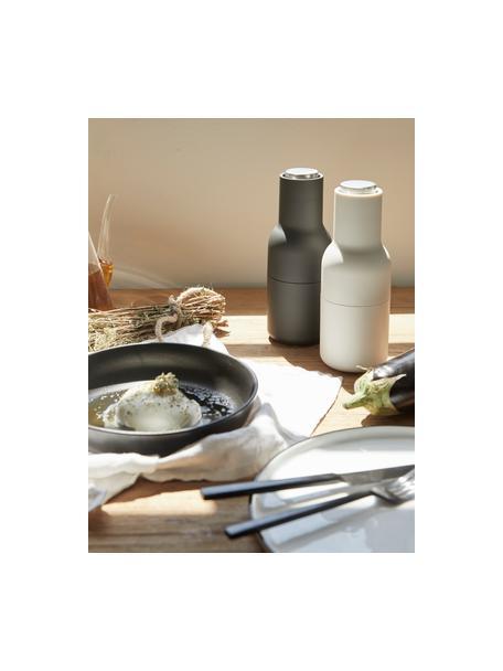 Młynek do soli i pieprzu z pokrywką ze stali nierdzewnej Bottle Grinder, Korpus: tworzywo sztuczne, Antracytowy, jasny szary, Ø 8 x W 21 cm