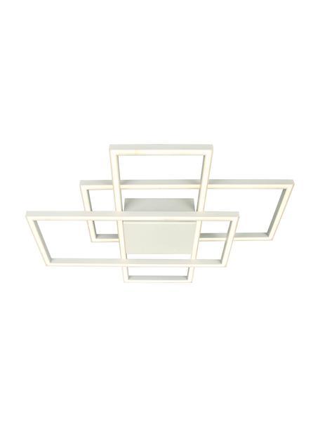 Plafoniera a LED dimmerabile New York, Struttura: metallo rivestito, Bianco, Larg. 66 x Alt. 9 cm
