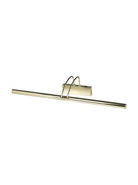 Lampada da parete a LED dorata Picture, Acciaio rivestito, Ottone lucido, Lar. 68 x  Alt. 12 cm