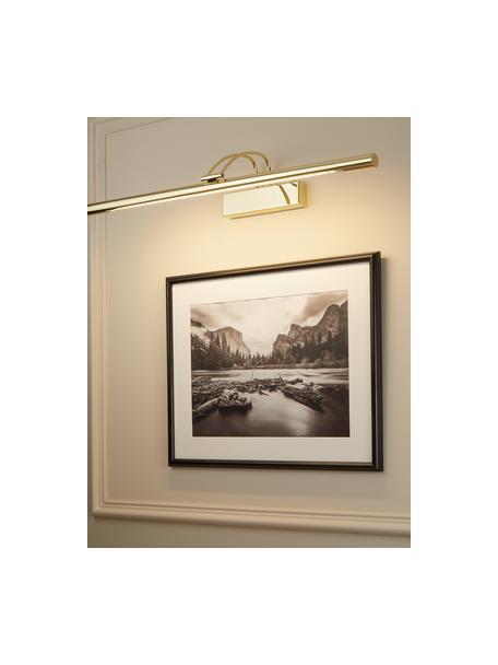 Schilderijlamp Picture, Gecoat staal, Messingkleurig, glanzend, 19 x 68 cm