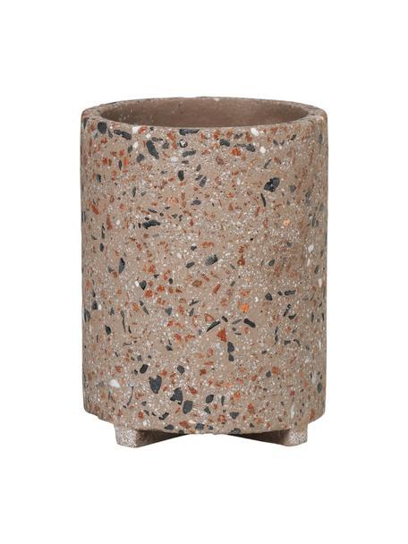 Portalápices Razzo, Gres, Gris pardo, multicolor, Ø 8 x Al 10 cm