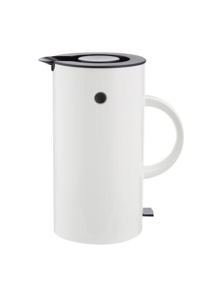 Bollitore elettrico in bianco lucido EM77, 1.5 L, Rivestimento: smalto, Bianco, nero, 1,5 L