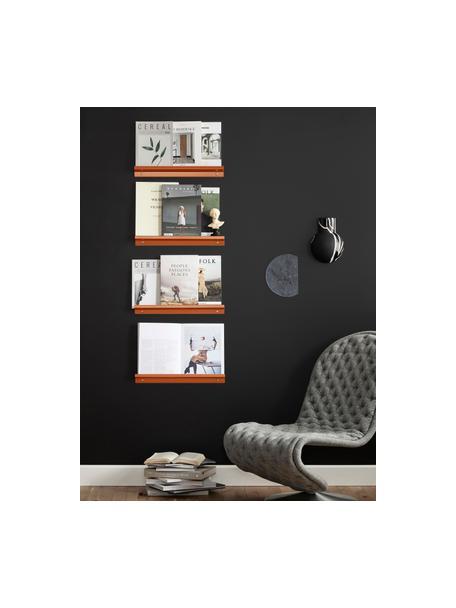 Smal fotolijstje Shelfini in terracotta, Lijst: gelakt metaal, Terracottakleurig, messingkleurig, 50 x 6 cm