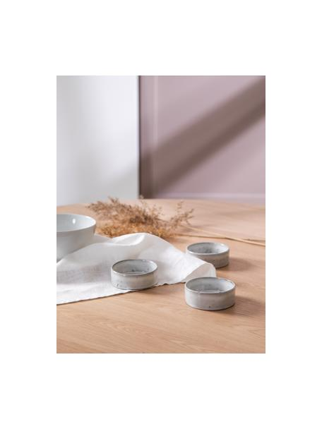 Handgemaakte dipschalen Nordic Sand Ø 8 cm van keramiek, 4 stuks, Keramiek, Zandkleurig, Ø 8 x H 3 cm