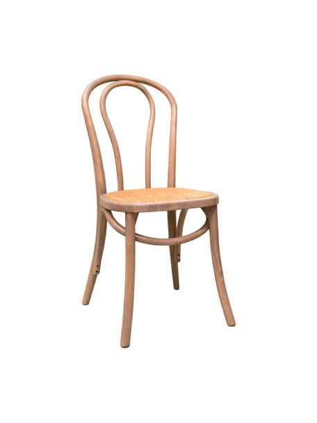 Sedia in legno Zari, Seduta: rattan, Grigio, Larg. 42 x Prof. 42 cm