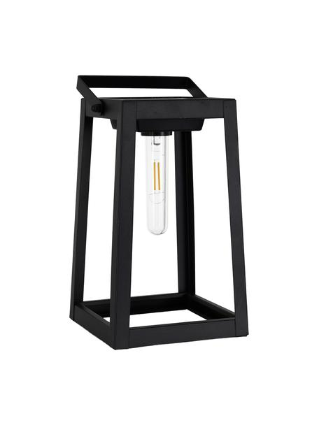 Lámpara móvil solar para exterior Tippy, Pantalla: plástico, Negro, L 15 x Al 31 cm