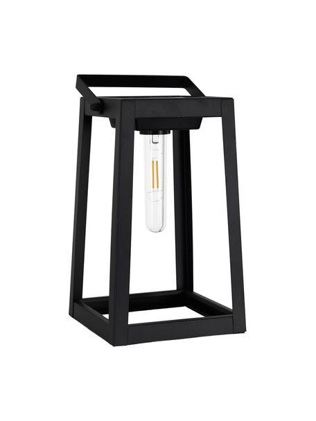 Solar outdoor tafellamp Tippy, Lampenkap: kunststof, Zwart, L 15 x H 31 cm