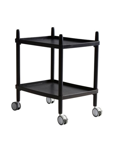 Wózek barowy scandi Åsa, Stelaż: drewno bukowe, powlekany, Czarny, S 50 x W 60 cm