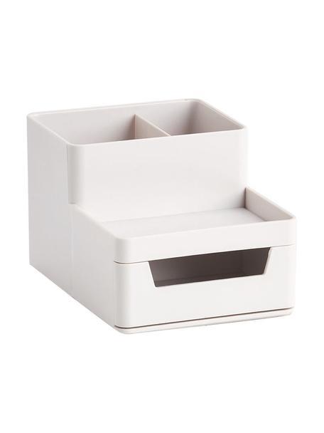 Organizador de escritorio Kevin, Plástico ABS, Gris claro, An 15 x Al 9 cm