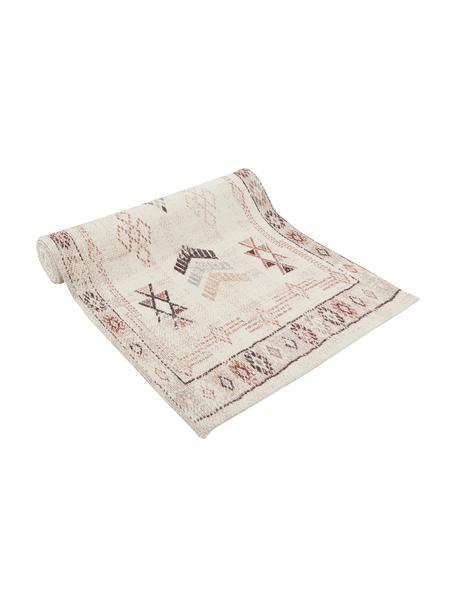 Bieżnik z bawełny Tanger, 100% bawełna, Odcienie kremowego,terakota, S 50 x D 150 cm