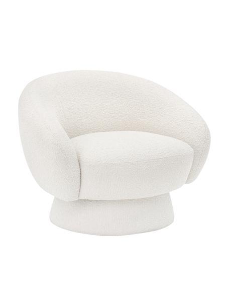 Loungefauteuil Ted in wit, Bekleding: polyester De bekleding is, Frame: grenenhout, multiplex, me, Wit, 93 x 82 cm