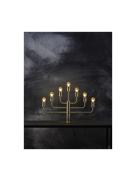 E14 Leuchtmittel, 1.8W, warmweiss, 6 Stück, Leuchtmittelschirm: Glas, Leuchtmittelfassung: Aluminium, Goldfarben, Transparent, Ø 5 x H 8 cm