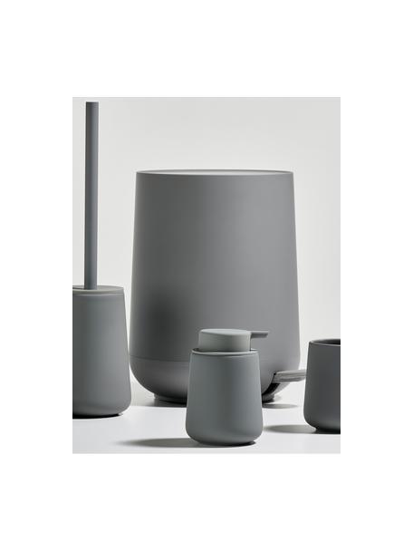 Pattumiera con coperchio softmotion Nova, Materiale sintetico ABS, Grigio, Ø 23 x Alt. 29 cm